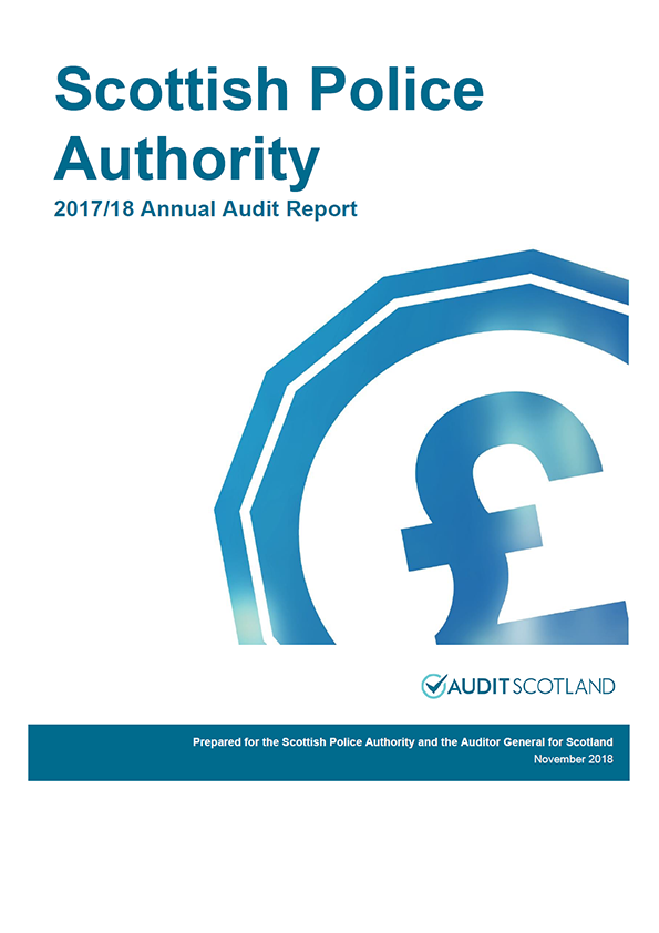 Report cover: Scottish Police Authority annual audit report 2017/18