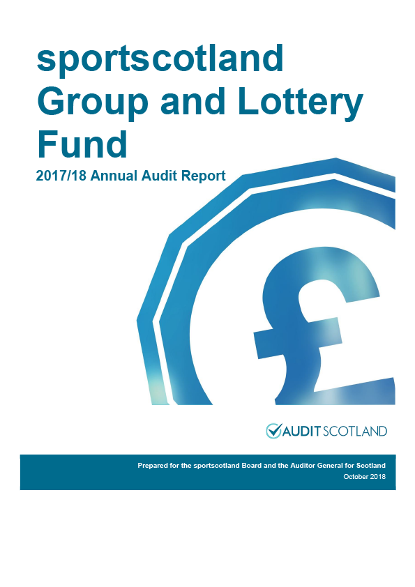 Report cover: Sportscotland Group annual audit report 2017/18