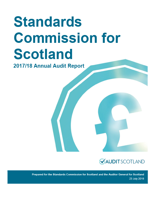 Report cover: Standards Commission for Scotland annual audit report 2017/18