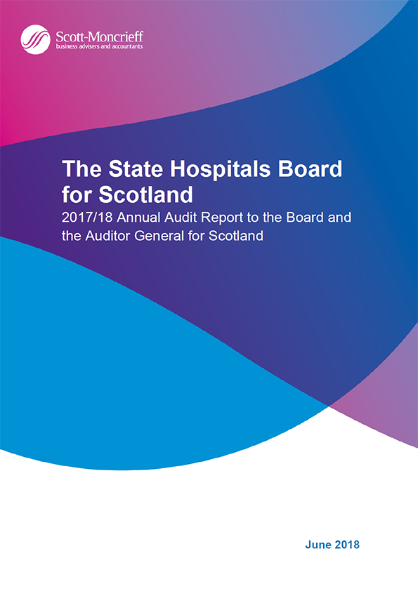 Report cover: The State Hospitals Board for Scotland annual audit report 2017/18