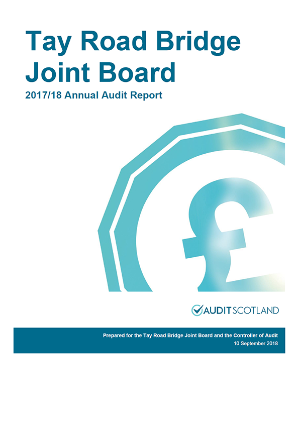 Report cover: Tay Road Bridge Joint Board annual audit report 2017/18