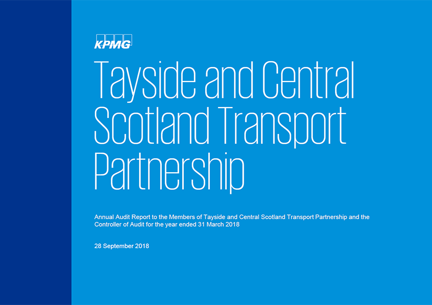 Report cover: Tayside and Central Scotland Transport Partnership annual audit report 2017/18