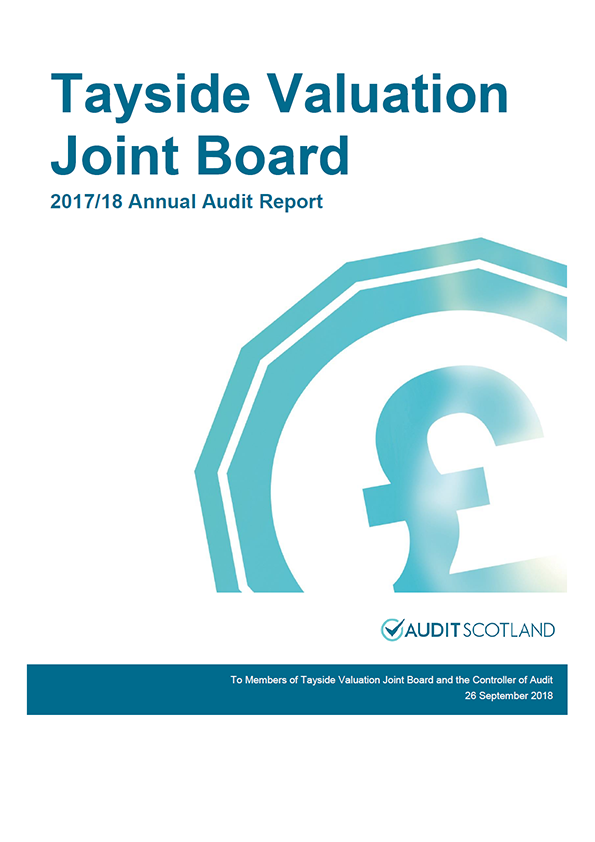 Report cover: Tayside Valuation Joint Board annual audit report 2017/18