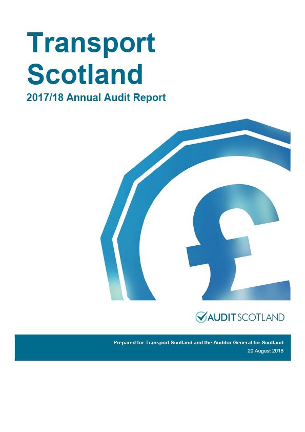 Report cover: Transport Scotland annual audit report 2017/18