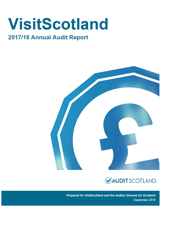 Report cover: VisitScotland annual audit report 2017/18
