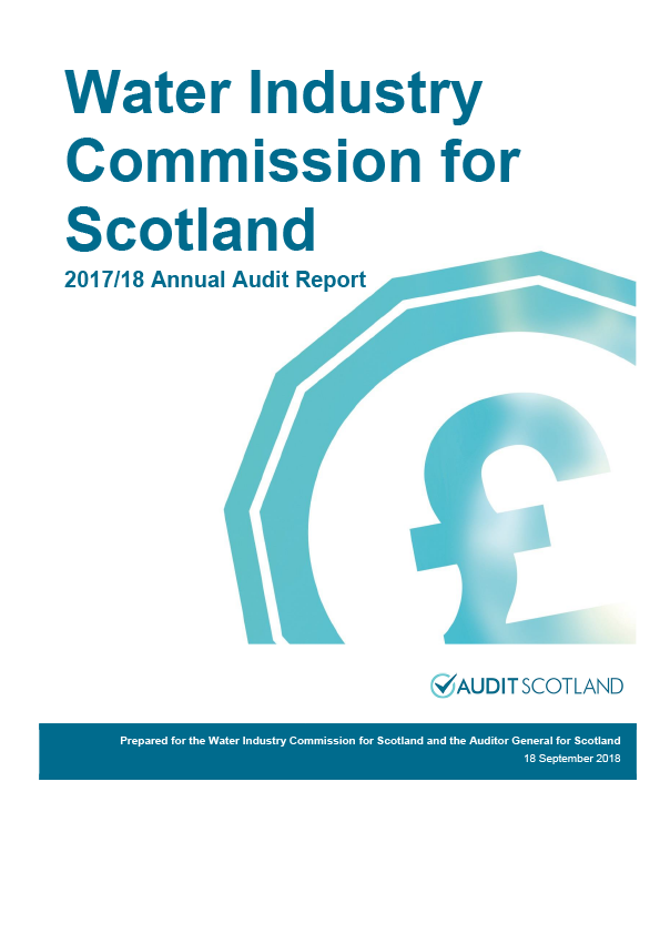 Report cover: Water Industry Commission for Scotland annual audit report 2017/18