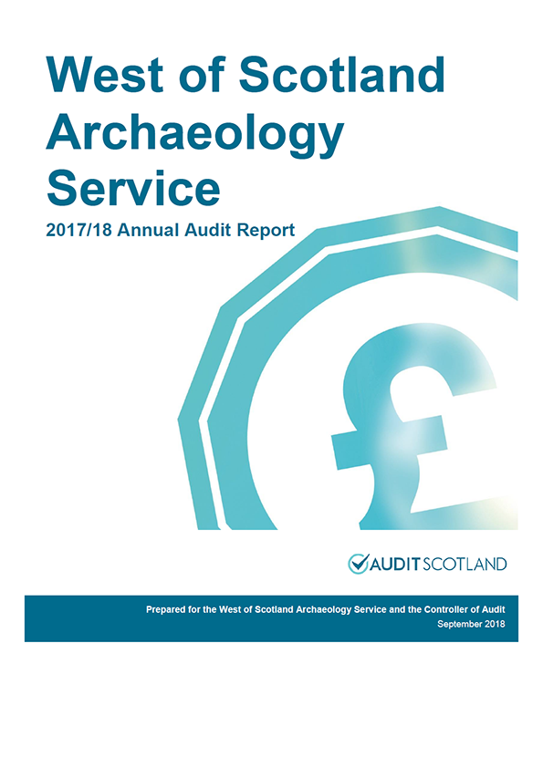 Report cover: West of Scotland Archaeology Service annual audit report 2017/18