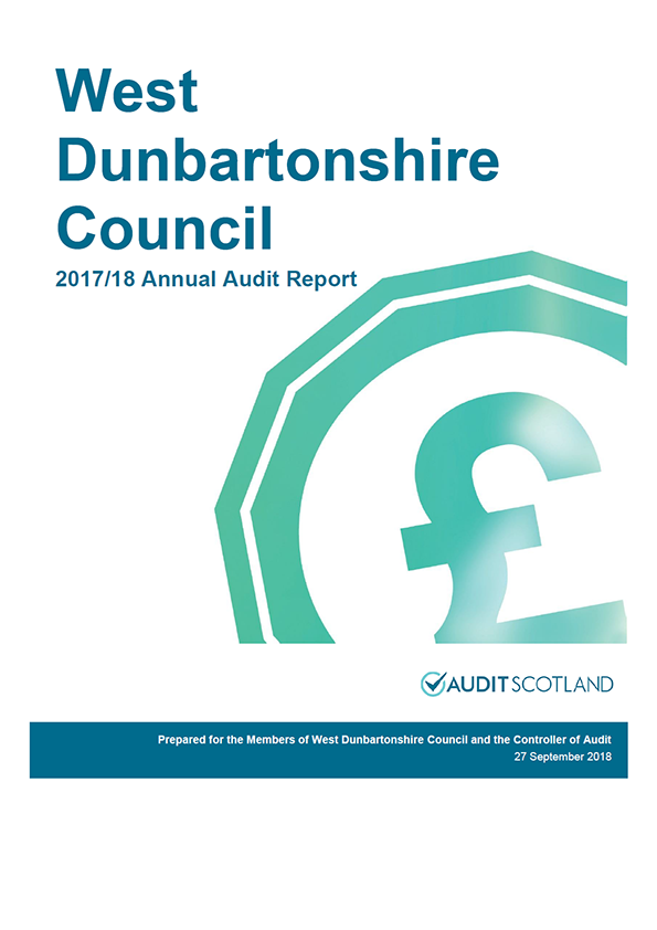 Report cover: West Dunbartonshire Council annual audit report 2017/18