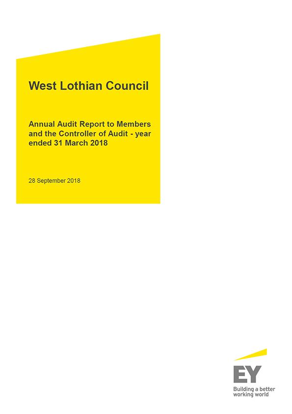 Report cover: West Lothian Council annual audit report 2017/18