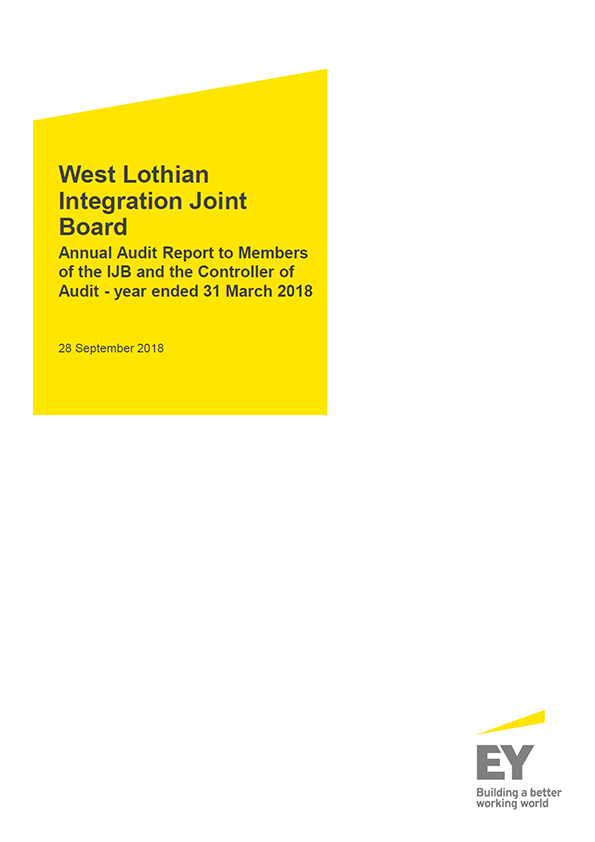Report cover: West Lothian Integration Joint Board annual audit report 2017/18