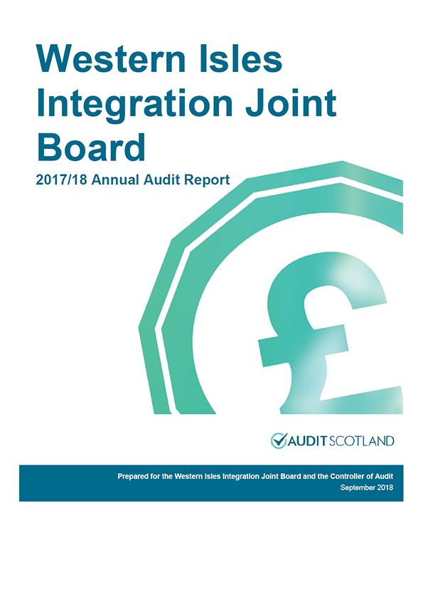 Report cover: Western Isles Integration Joint Board annual audit report 2017/18