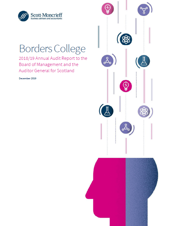 Report cover: Borders College annual audit 2018/19