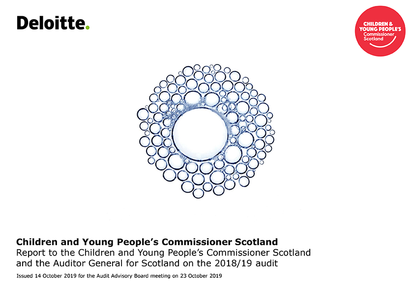 Report cover: Children and Young People's Commissioner Scotland annual audit report 2018/19