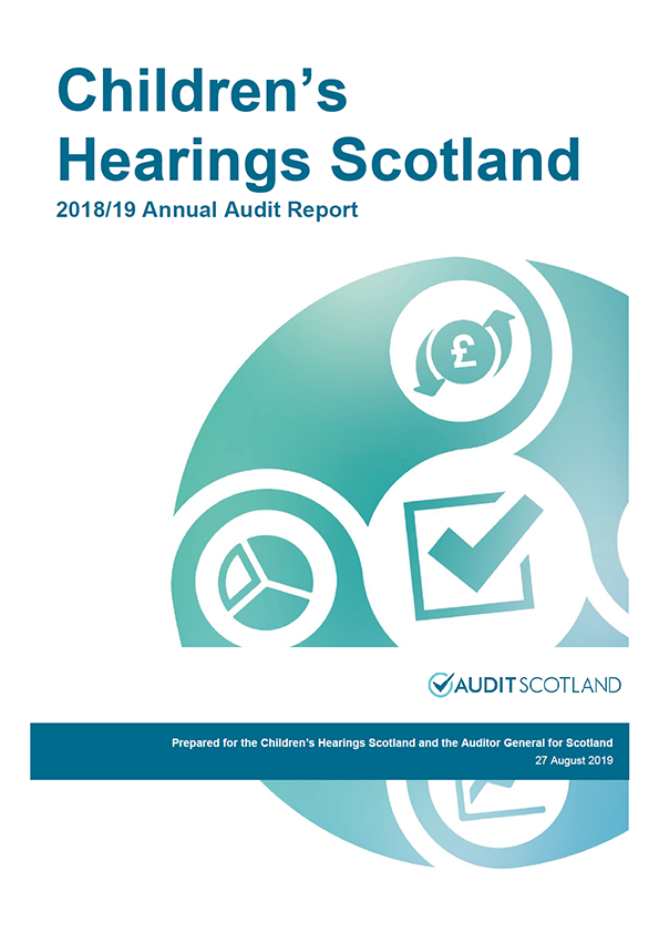 Report cover: Children's Hearings Scotland annual audit report 2018/19