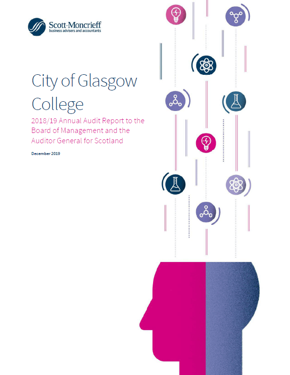 Report cover: City of Glasgow College annual audit 2018/19