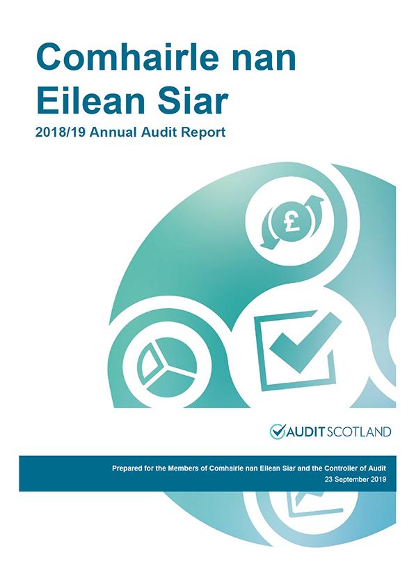 Report cover: Comhairle nan Eilean Siar annual audit report 2018/19