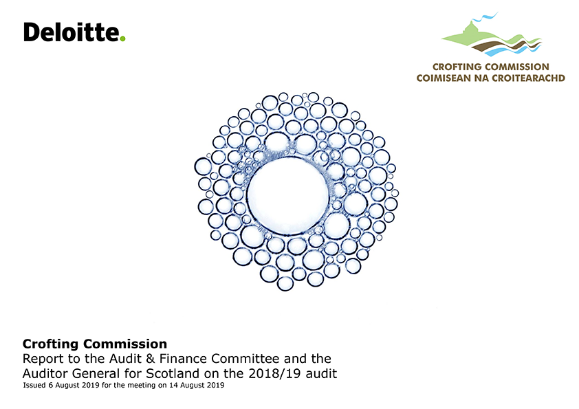 Report cover: Crofting Commission annual audit report 2018/19