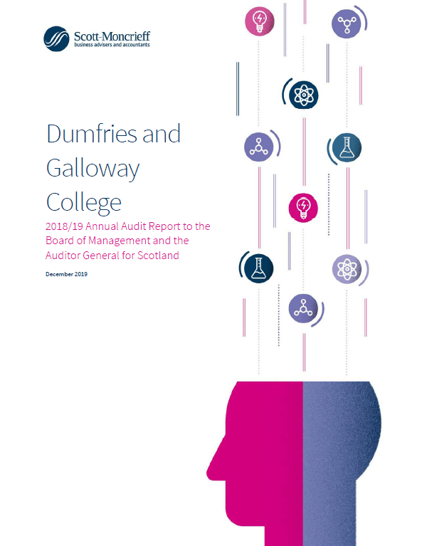 Report cover: Dumfries and Galloway College annual audit 2018/19