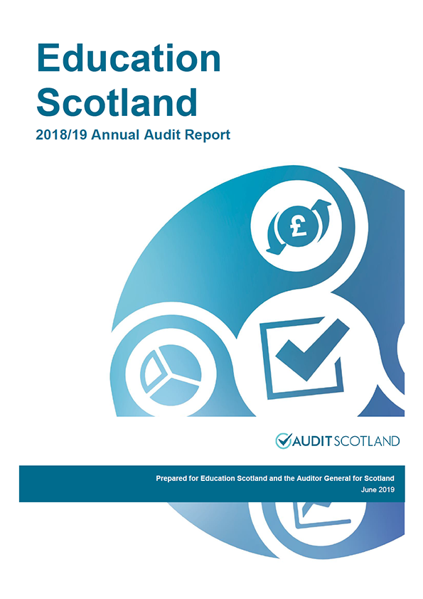 Report cover: Education Scotland annual audit report 2018/19