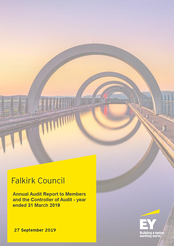 Report cover: Falkirk Council annual audit report 2018/19