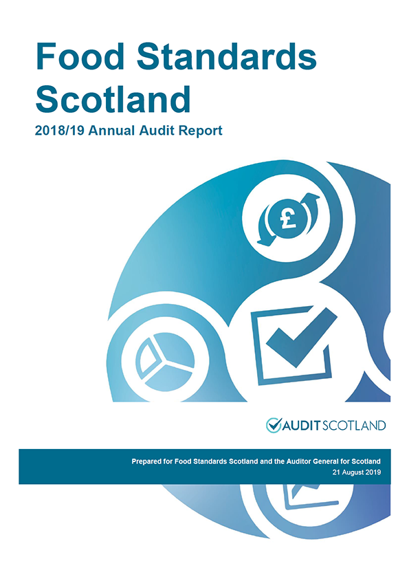 Report cover: Food Standards Scotland annual audit report 2018/19