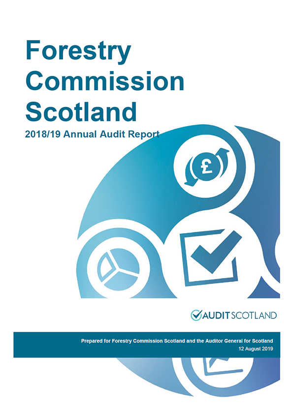Report cover: Forestry Commission Scotland annual audit report 2018/19
