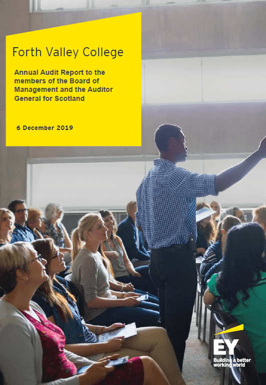 Report cover: Forth Valley College annual audit 2018/19