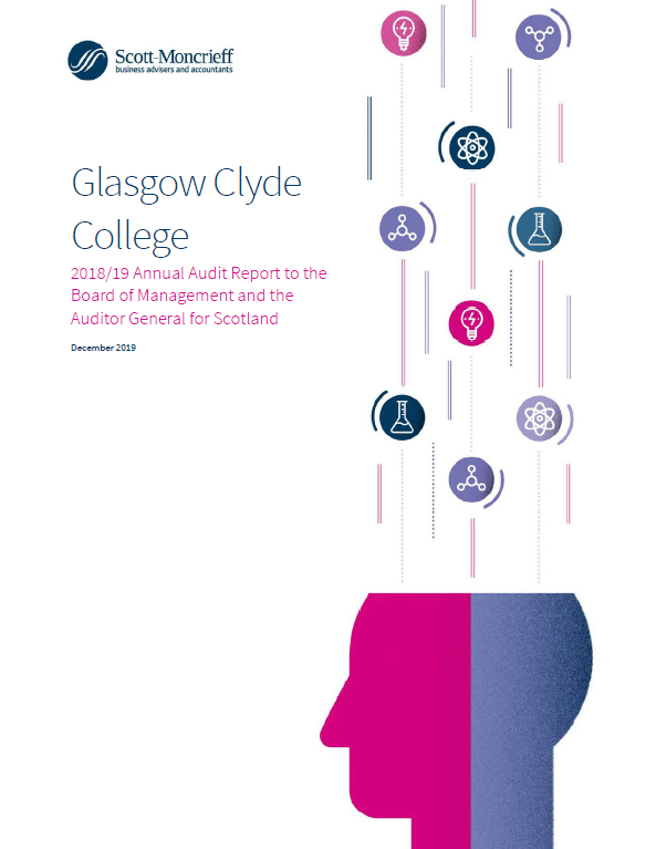 Report cover: Glasgow Clyde College annual audit 2018/19