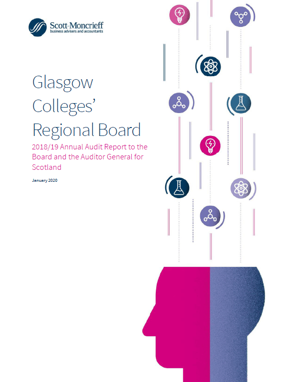Report cover: Glasgow Colleges' Regional Board annual audit 2018/19