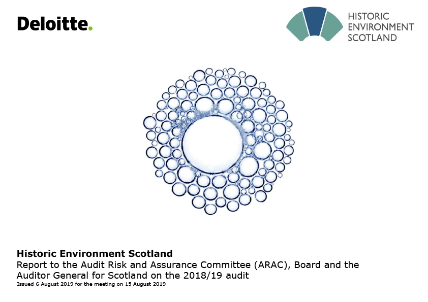 Report cover: Historic Environment Scotland annual audit report 2018/19