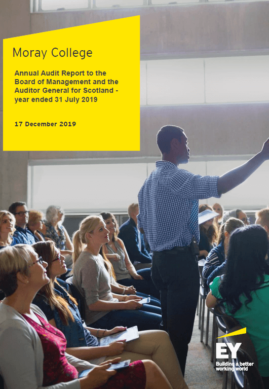 Report cover: Moray College annual audit 2018/19
