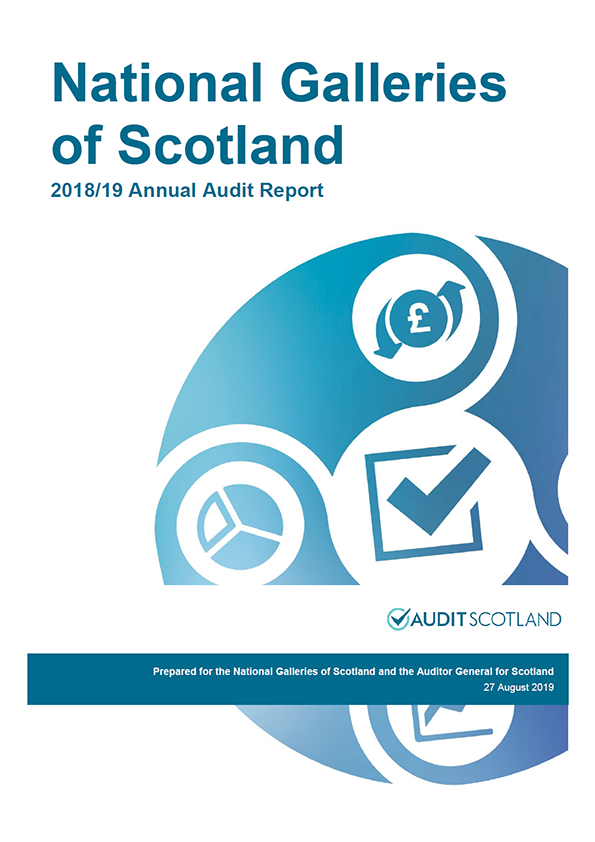 Report cover: National Galleries of Scotland annual audit report 2018/19