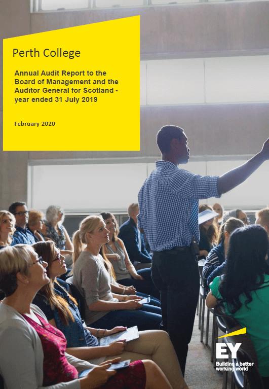 Report cover: Perth College annual audit 2018/19