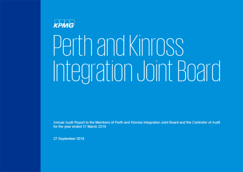 Report cover: Perth and Kinross Integration Joint Board annual audit report 2018/19