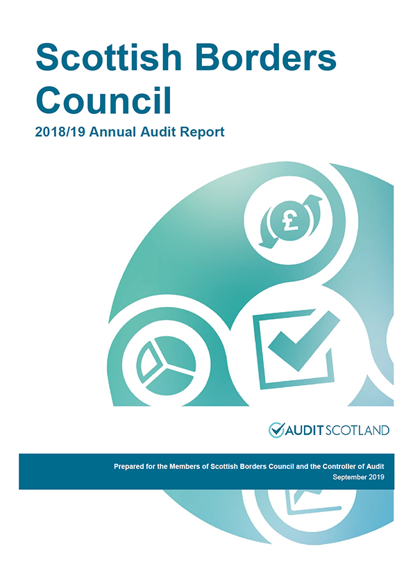 Report cover: Scottish Borders Council annual audit report 2018/19