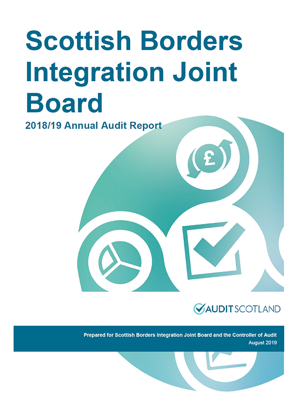 Report cover: Scottish Borders Integration Joint Board annual audit report 2018/19