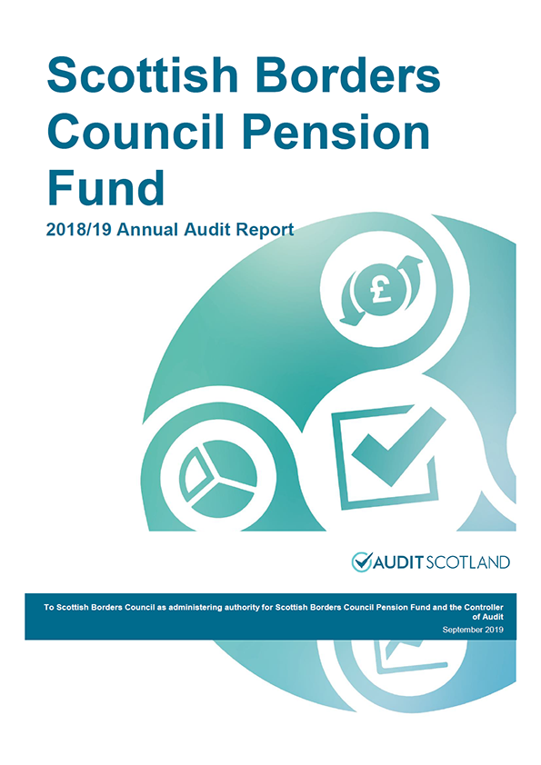 Report cover: Scottish Borders Council Pension Fund annual audit report 2018/19