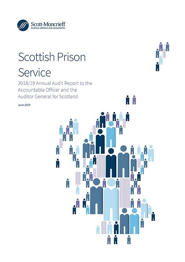 Report cover: Scottish Prison Service annual audit report 2018/19