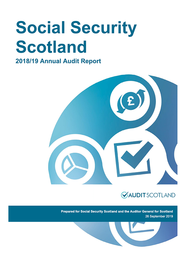 Report cover: Social Security Scotland annual audit report 2018/19