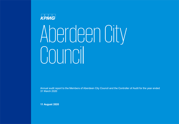 Report cover: Aberdeen City Council annual audit 2019/20