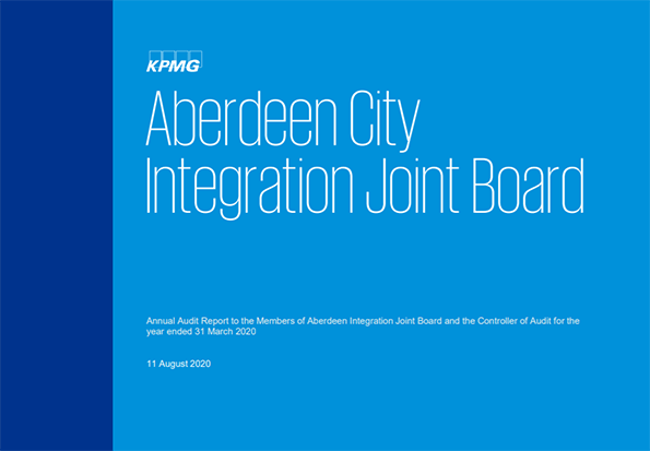Report cover: Aberdeen City Integration Joint Board annual audit 2019/20