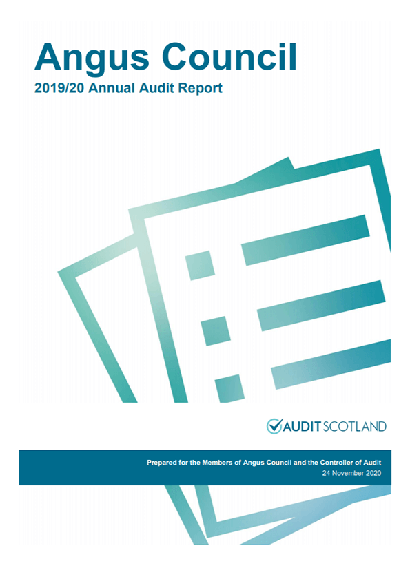 Report cover: Angus Council annual audit 2019/20