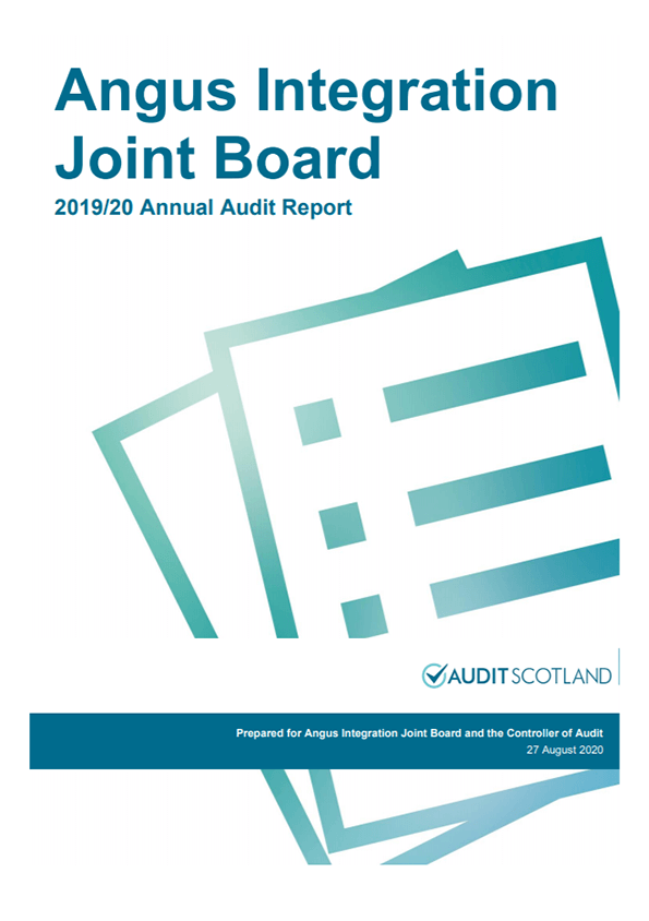 Report cover: Angus Integration Joint Board annual audit 2019/20