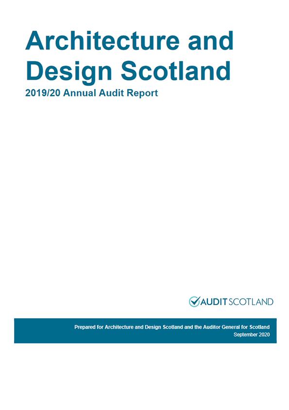 Report cover: Architecture and Design Scotland annual audit 2019/20