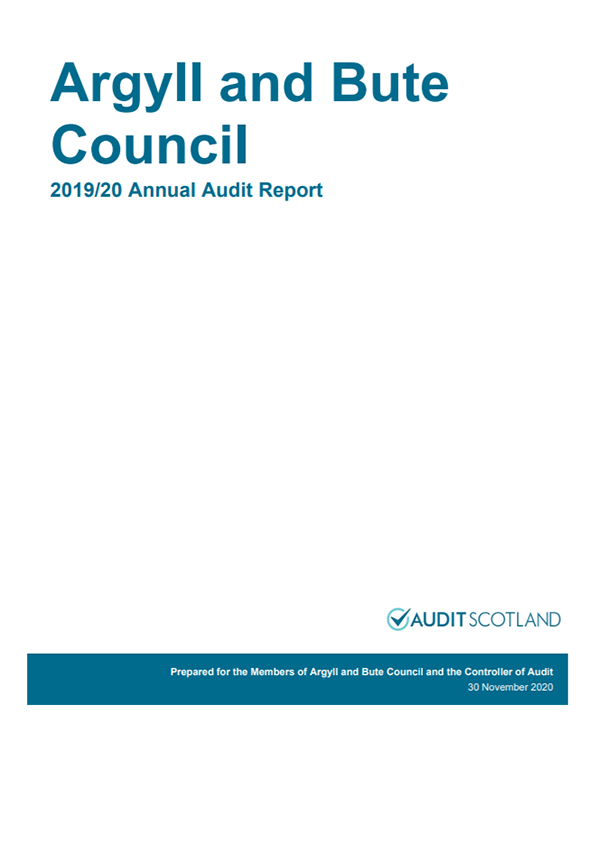 Report cover: Argyll and Bute Council annual audit 2019/20