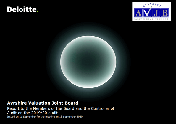Report cover: Ayrshire Valuation Joint Board annual audit 2019/20