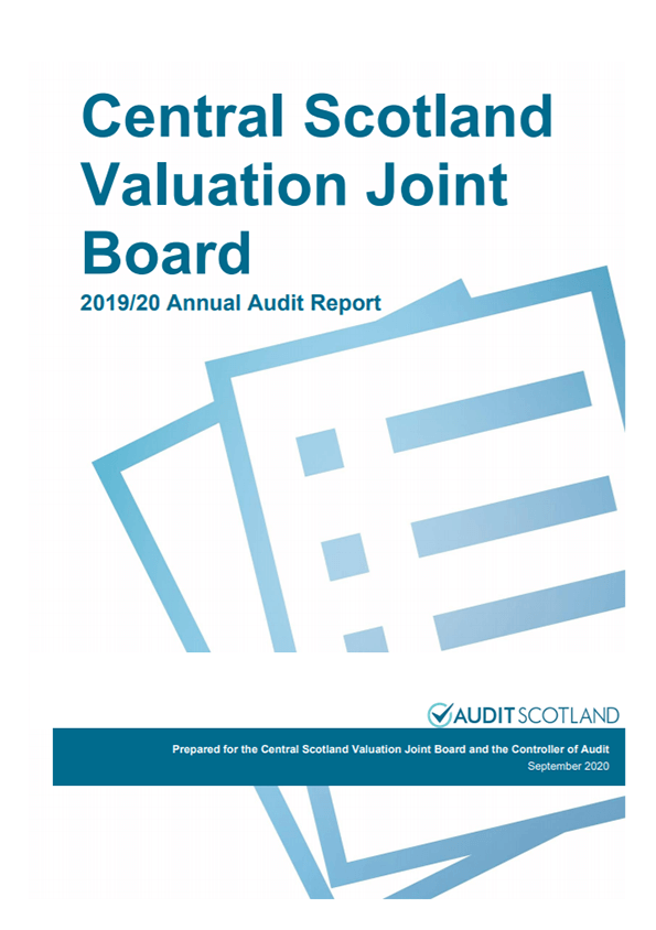 Report cover: Central Scotland Valuation Joint Board annual audit 2019/20