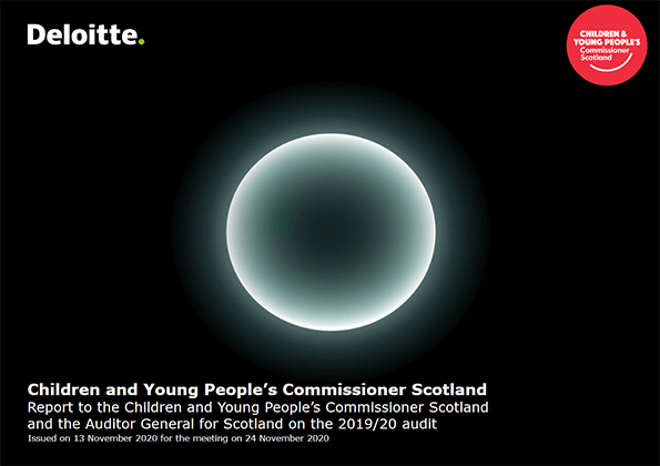 Report cover: Children and Young People's Commissioner Scotland annual audit 2019/20