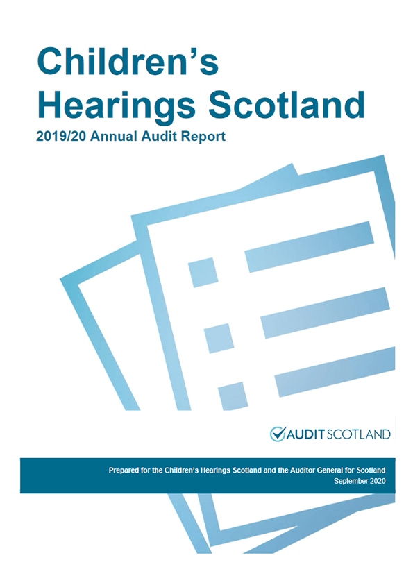 Report cover: Children's Hearings Scotland annual audit 2019/20
