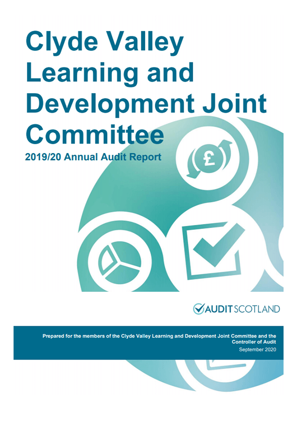 Report cover: Clyde Valley Learning and Development Joint Committee annual audit 2019/20